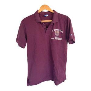 🍋 Vintage Champion HARVARD University Polo Shirt